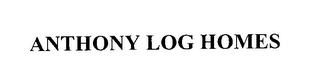 mark for ANTHONY LOG HOMES, trademark #76028711