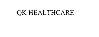mark for QK HEALTHCARE, trademark #76035341