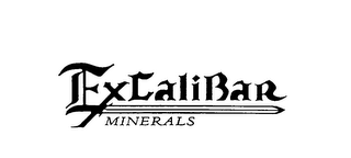 mark for EXCALIBAR MINERALS, trademark #76038177