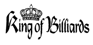 mark for KING OF BILLARDS, trademark #76039682