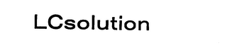 mark for LCSOLUTION, trademark #76040921