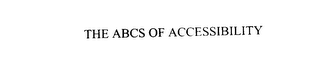 mark for THE ABCS OF ACCESSIBILITY, trademark #76042471