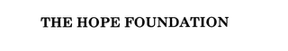 mark for THE HOPE FOUNDATION, trademark #76048811