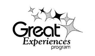 mark for GREAT EXPERIENCES PROGRAM, trademark #76052312