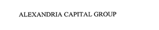 mark for ALEXANDRIA CAPITAL GROUP, trademark #76055660