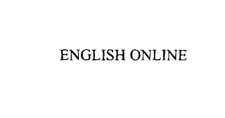 mark for ENGLISH ONLINE, trademark #76063727