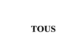 mark for TOUS, trademark #76095344