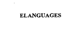 mark for ELANGUAGES, trademark #76096803