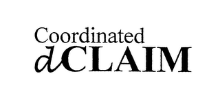 mark for COORDINATED DCLAIM, trademark #76106702