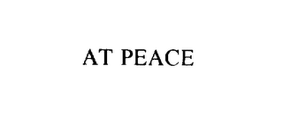 mark for AT PEACE, trademark #76106722