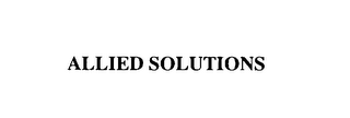 mark for ALLIED SOLUTIONS, trademark #76107283