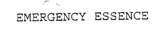 mark for EMERGENCY ESSENCE, trademark #76109836