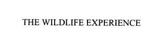 mark for THE WILDLIFE EXPERIENCE, trademark #76125825