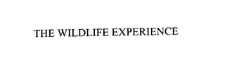 mark for THE WILDLIFE EXPERIENCE, trademark #76125838