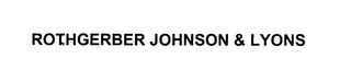 mark for ROTHGERBER JOHNSON & LYONS, trademark #76132455