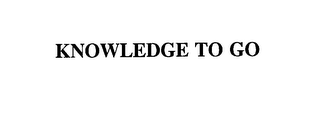 mark for KNOWLEDGE TO GO, trademark #76135847