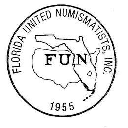 mark for FLORIDA UNITED NUMISMATISTS, INC. FUN 1955, trademark #76137701