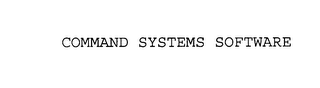 mark for COMMAND SYSTEMS SOFTWARE, trademark #76138105