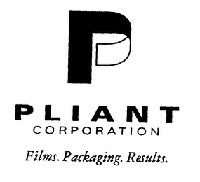 mark for P PLIANT CORPORATION FILMS. PACKAGING. RESULTS., trademark #76139698