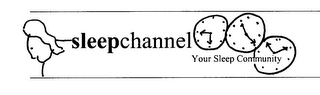 mark for SLEEPCHANNEL YOUR SLEEP COMMUNITY, trademark #76141332
