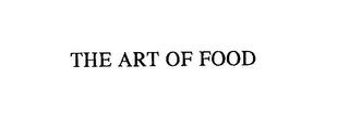 mark for THE ART OF FOOD, trademark #76146664