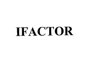 mark for IFACTOR, trademark #76148076
