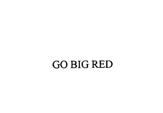 mark for GO BIG RED, trademark #76148157