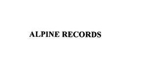 mark for ALPINE RECORDS, trademark #76150684