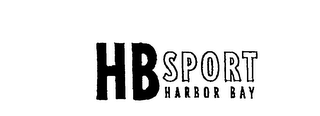 mark for H B SPORT HARBOR BAY, trademark #76152529