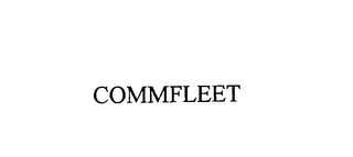 mark for COMMFLEET, trademark #76154353