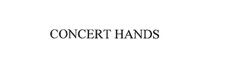 mark for CONCERT HANDS, trademark #76155805