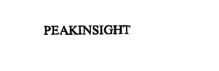 mark for PEAKINSIGHT, trademark #76156891