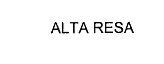mark for ALTA RESA, trademark #76157417