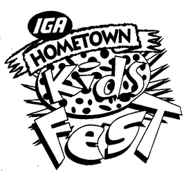 mark for IGA HOMETOWN KIDS FEST, trademark #76159849