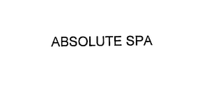 mark for ABSOLUTE SPA, trademark #76163129