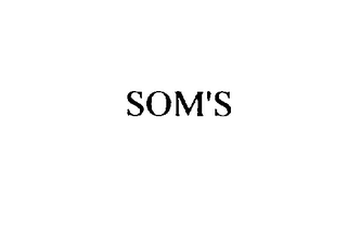 mark for SOM'S, trademark #76168707