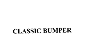 mark for CLASSIC BUMPER, trademark #76169262