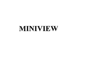 mark for MINIVIEW, trademark #76171395