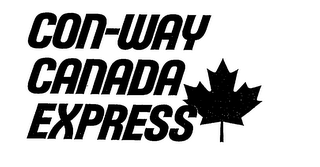 mark for CON-WAY CANADA EXPRESS, trademark #76177156