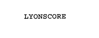 mark for LYONSCORE, trademark #76178078