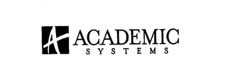 mark for ACADEMIC SYSTEMS A, trademark #76178613