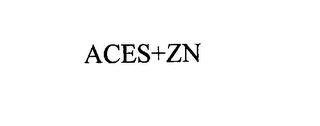 mark for ACES+ZN, trademark #76178965