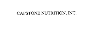mark for CAPSTONE NUTRITION, INC., trademark #76179666
