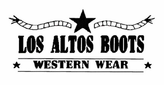 mark for LOS ALTOS WESTERN BOOTS, trademark #76181511