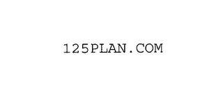 mark for 125PLAN.COM, trademark #76184059