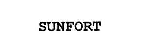 mark for SUNFORT, trademark #76184177