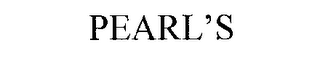 mark for PEARL'S, trademark #76186872