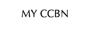 mark for MY CCBN, trademark #76191578
