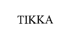 mark for TIKKA, trademark #76192482