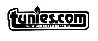 mark for TUNIES.COM ON-LINE SUPER SAVE NUTRITION CENTER, trademark #76192810